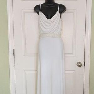 Belle Badgley Mischka White Gown